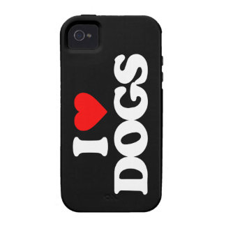 AMO PERROS VIBE iPhone 4 CARCASA