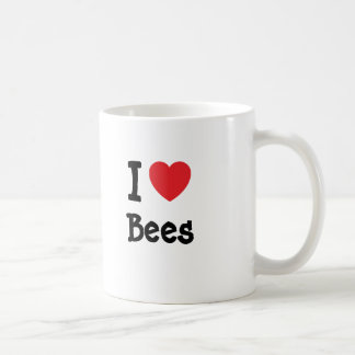 Amo personalizado del corazón de las abejas tazas de café