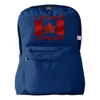 Amo personalizar del recuerdo de Canadá de la Mochila