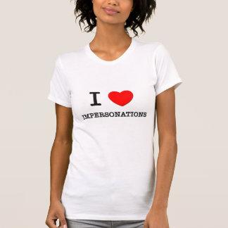 Amo personificaciones camiseta
