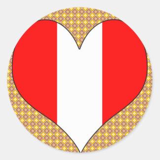 Amo Perú Pegatina Redonda