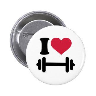 Amo pesa de gimnasia del barbell pin