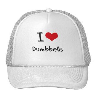 Amo pesas de gimnasia gorro de camionero