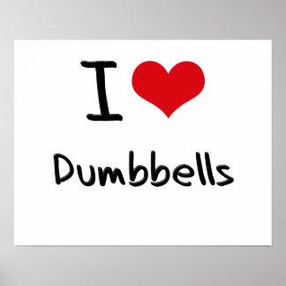 Amo pesas de gimnasia poster