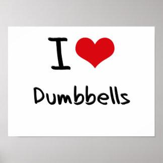Amo pesas de gimnasia posters