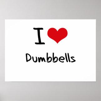 Amo pesas de gimnasia impresiones