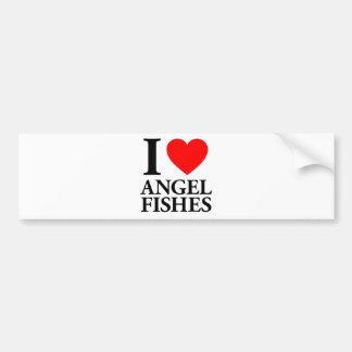 Amo pescados del ángel etiqueta de parachoque