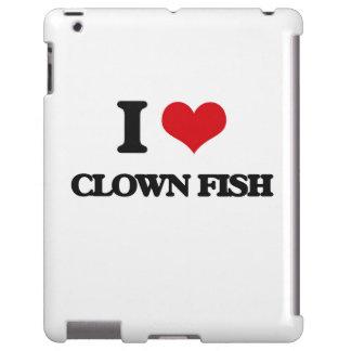 Amo pescados del payaso funda para iPad