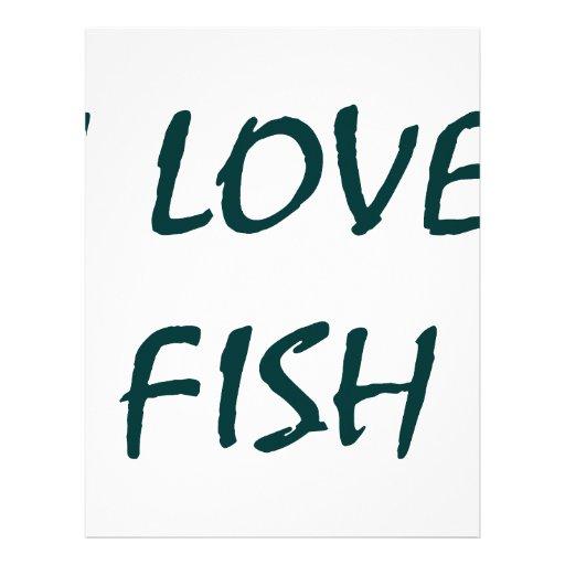 Amo pescados plantilla de membrete