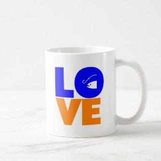 Amo pescar tazas de café