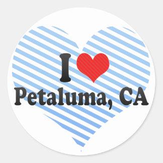 Amo Petaluma, CA Pegatina Redonda