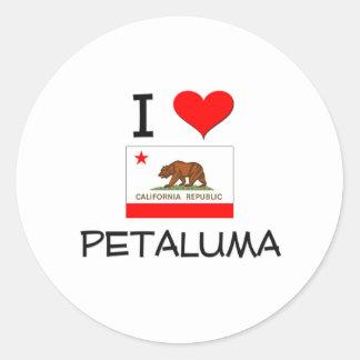 Amo PETALUMA California Pegatina Redonda