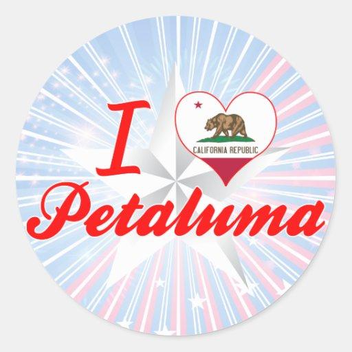 Amo Petaluma, California Pegatina Redonda