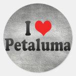 Amo Petaluma, Estados Unidos Pegatina Redonda