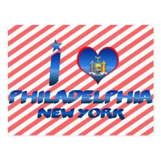 Amo Philadelphia, Nueva York Postal