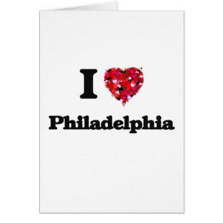 Amo Philadelphia Pennsylvania Tarjeta De Felicitación