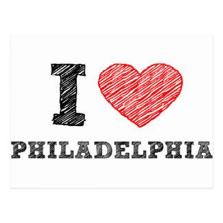 Amo Philadelphia Tarjeta Postal