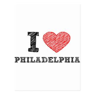 Amo Philadelphia Tarjetas Postales
