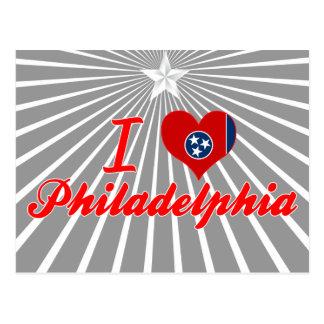 Amo Philadelphia, Tennessee Tarjeta Postal