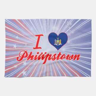 Amo Philipstown, Nueva York Toallas De Cocina