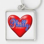 Amo Philly Llaveros