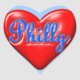 Amo Philly Pegatina En Forma De Corazón