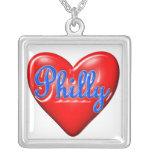 Amo Philly Pendiente Personalizado