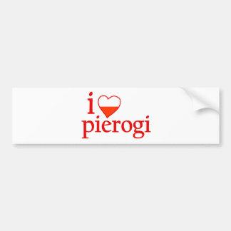 Amo Pierogi Etiqueta De Parachoque