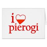 Amo Pierogi Tarjetas