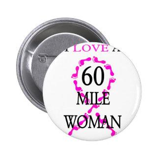 amo pies de 60 millas de la mujer de una cinta del pin