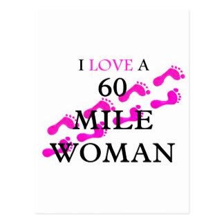 amo pies de una mujer de 60 millas tarjeta postal