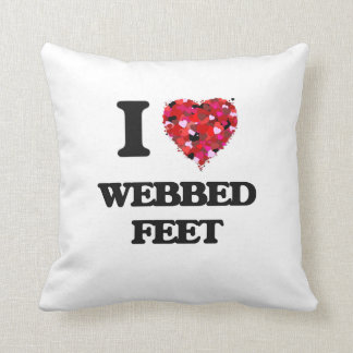 Amo pies reticulados almohadas