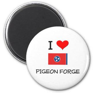 Amo Pigeon Forge Tennessee Imán Redondo 5 Cm