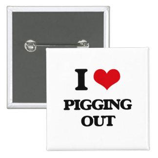 Amo Pigging hacia fuera Chapa Cuadrada 5 Cm