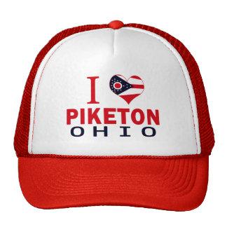 Amo Piketon Ohio Gorros Bordados