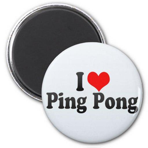 Amo ping-pong imán redondo 5 cm