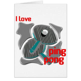 Amo ping-pong que ama el ping-pong tarjeta
