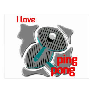 Amo ping-pong que ama el ping-pong postales