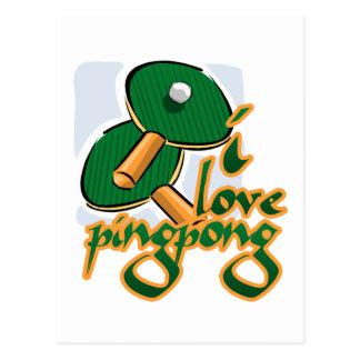 Amo ping-pong que amamos ping-pong tarjeta postal