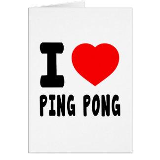 Amo ping-pong tarjetas