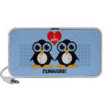 Amo pingüinos iPod altavoz