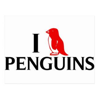 Amo pingüinos postales