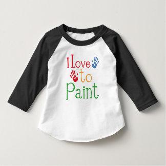 Amo pintar a los niños Fingerpainting la camiseta Playera