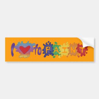 Amo pintar pegatina de parachoque