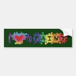 Amo pintar etiqueta de parachoque