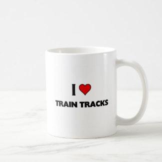 Amo pistas del tren taza