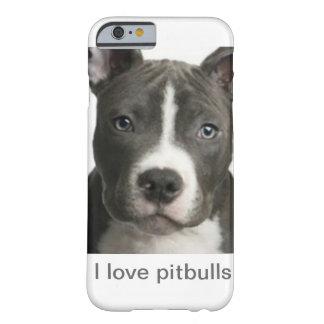 Amo pitbulls funda de iPhone 6 barely there