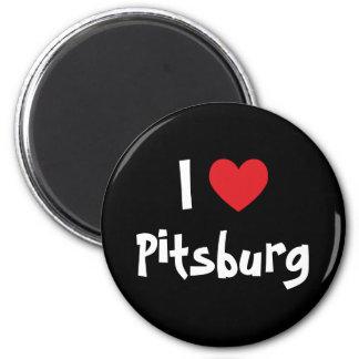 Amo Pitsburg Imán Redondo 5 Cm