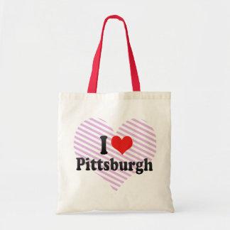 Amo Pittsburgh Bolsa Tela Barata