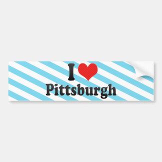 Amo Pittsburgh Pegatina De Parachoque